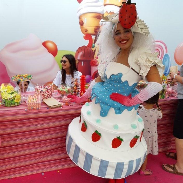 דמויות שטח לאירועים - עוגות וממתקים