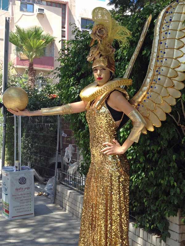 פסלים חיים לאירועים - זאזא