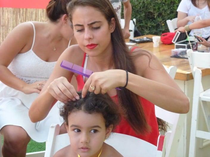 יום כיף למשפחות בפארק המים שפיים - סדנת צמות