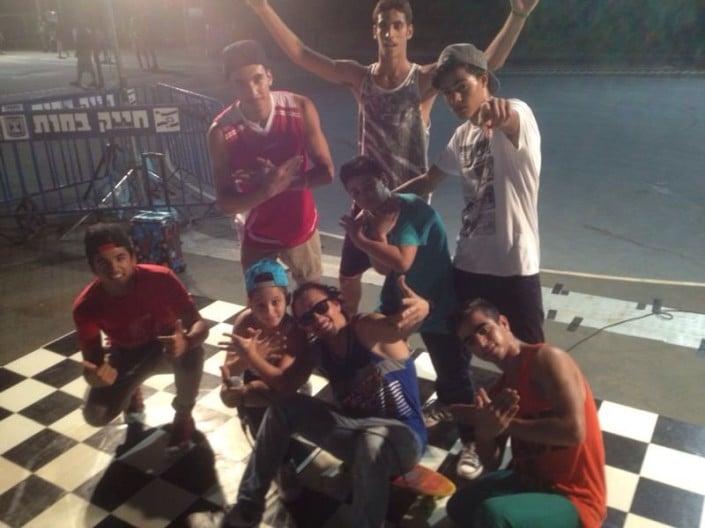 רקדני ברייקדאנס בפסטיבל נוער אורבני ביהוד