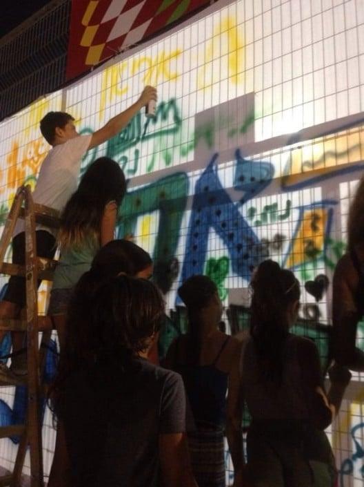 קירות גראפיטי בפסטיבל נוער אורבני ביהוד