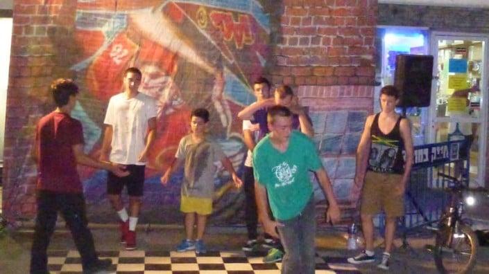 רקדני ברייקדאנס והיפ הופ בפסטיבל המחולות ביהוד