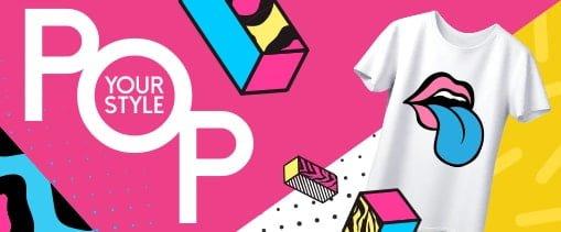 עמדת הדפסת חולצות (pop style)